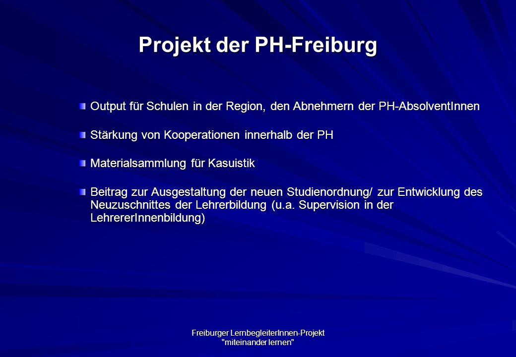 Projekt der PH-Freiburg
