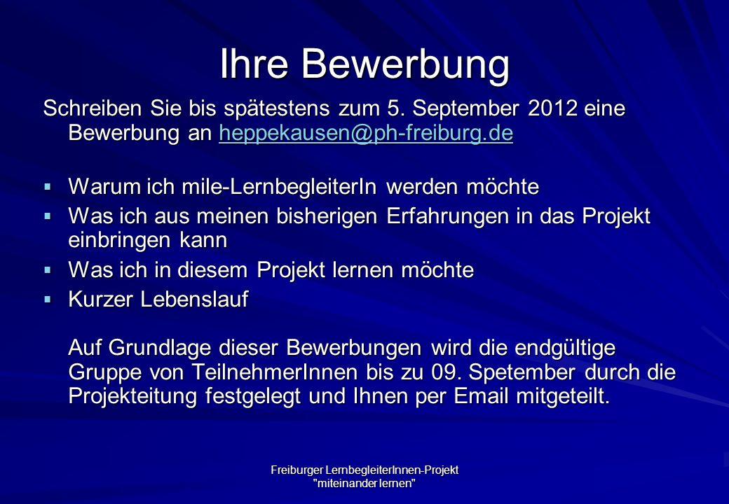 Freiburger LernbegleiterInnen-Projekt miteinander lernen