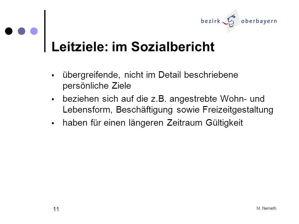 Leitziele: im Sozialbericht