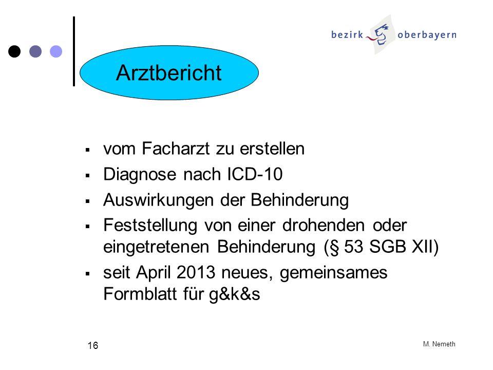 Arztbericht vom Facharzt zu erstellen Diagnose nach ICD-10