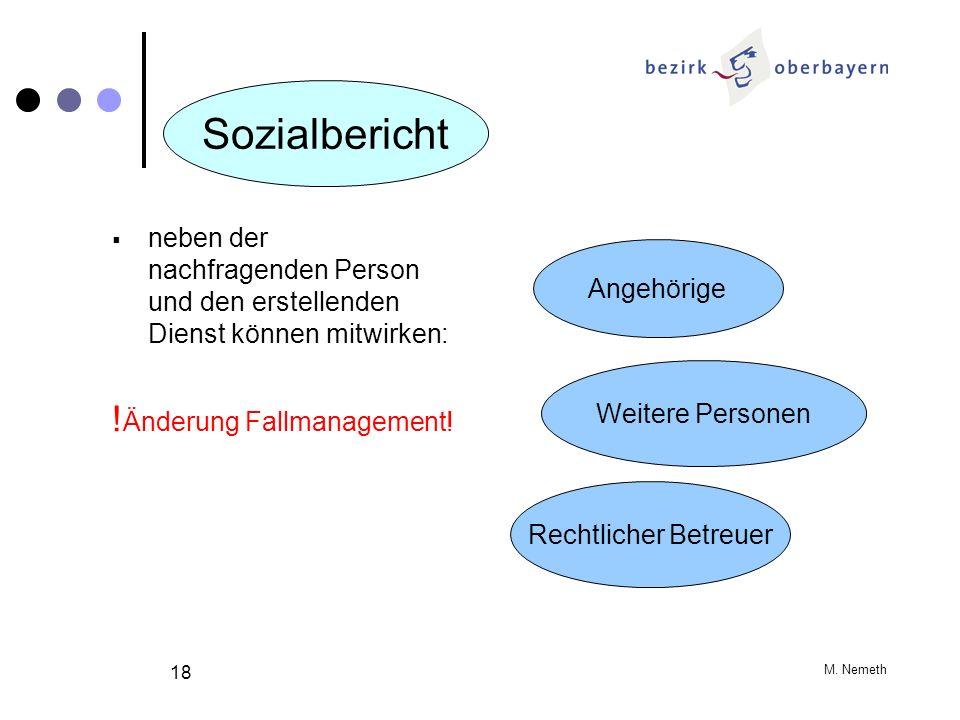 Sozialbericht !Änderung Fallmanagement!
