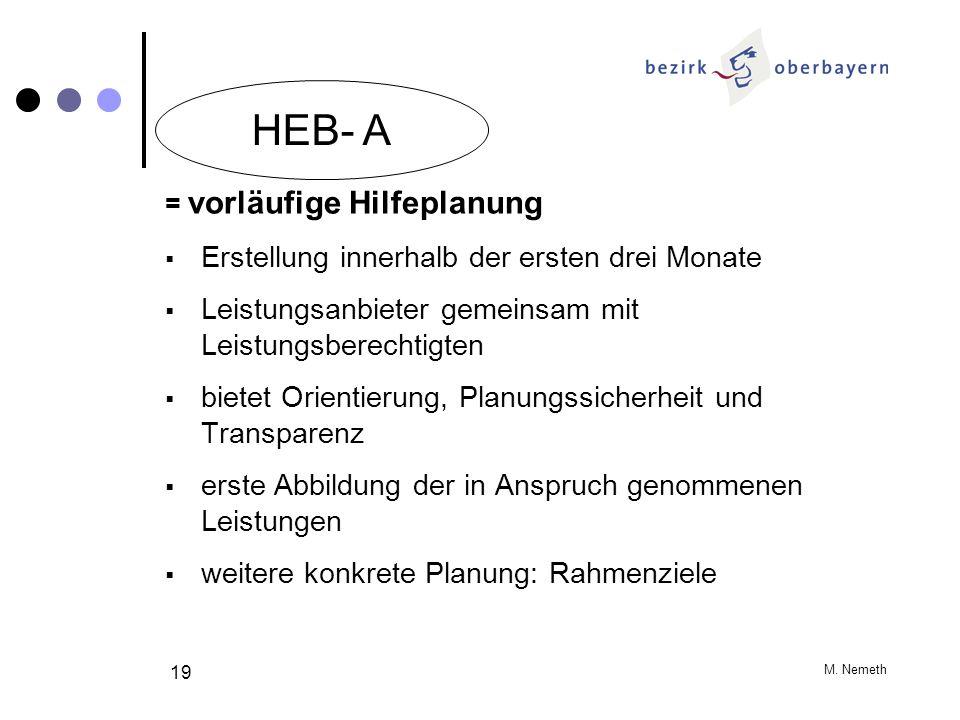 HEB- A Erstellung innerhalb der ersten drei Monate