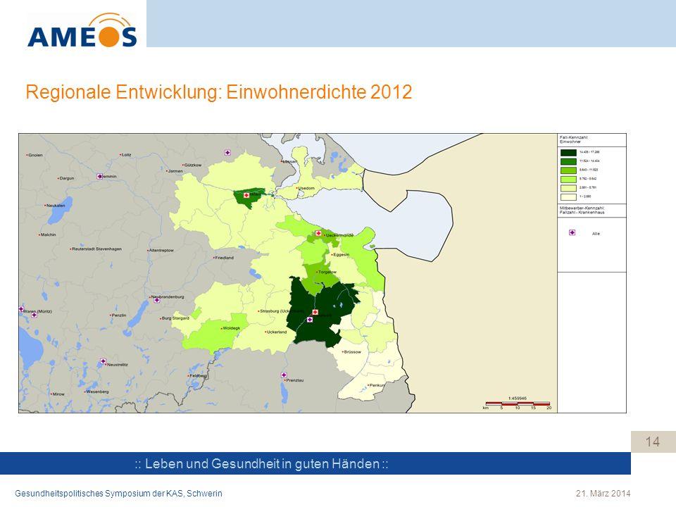 Regionale Entwicklung: Einwohnerdichte 2012