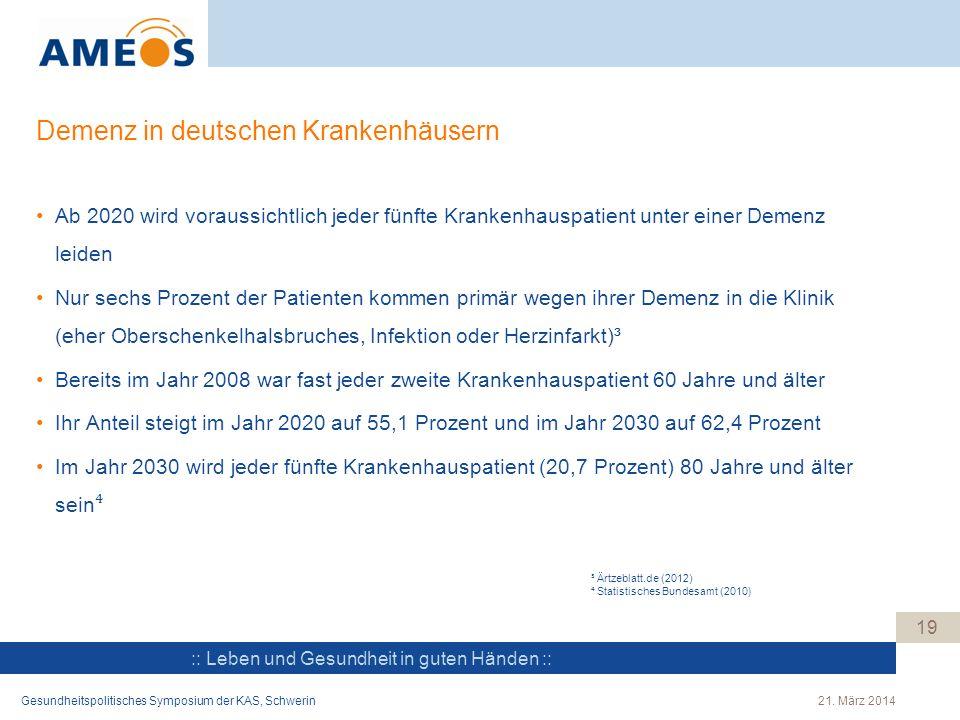 Demenz in deutschen Krankenhäusern