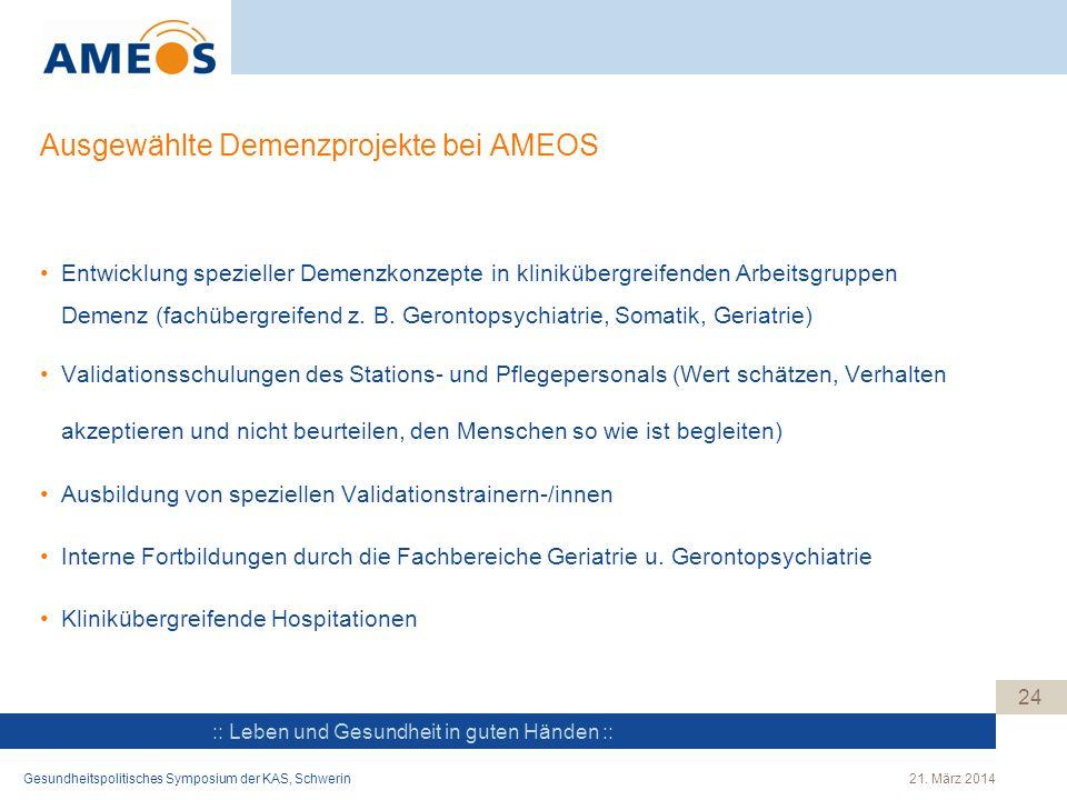 Ausgewählte Demenzprojekte bei AMEOS