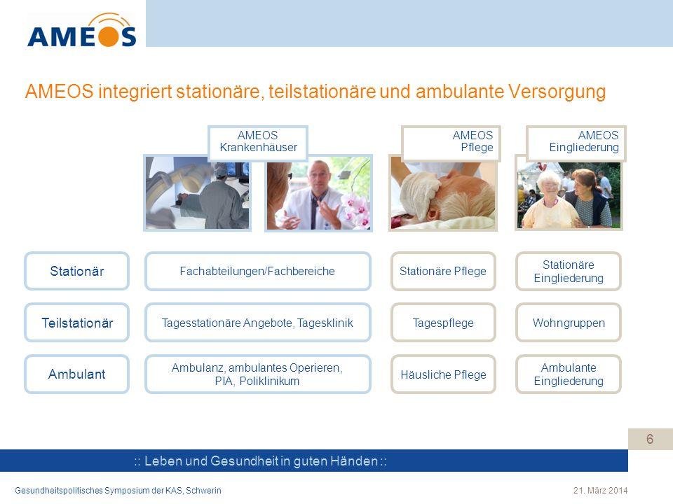 AMEOS integriert stationäre, teilstationäre und ambulante Versorgung