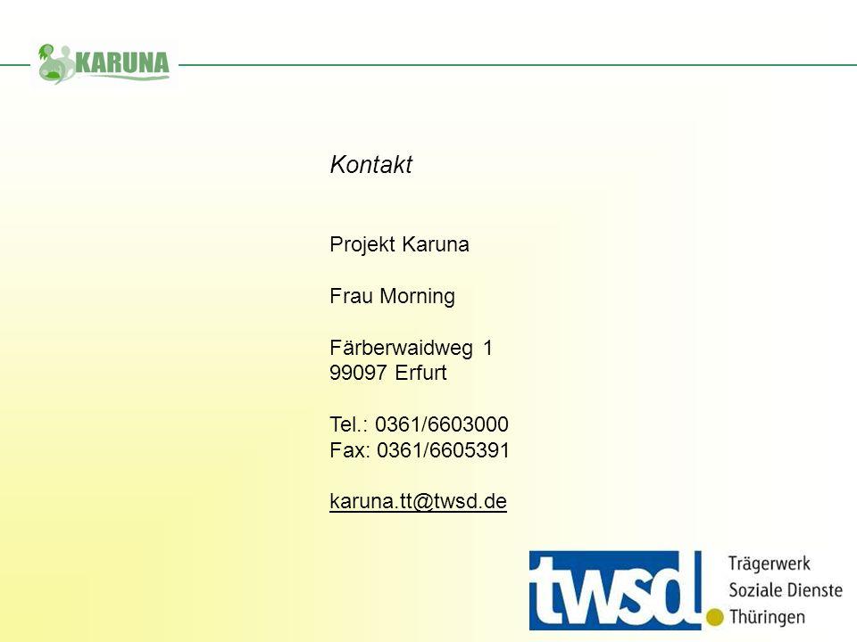 Kontakt Projekt Karuna Frau Morning Färberwaidweg 1 99097 Erfurt