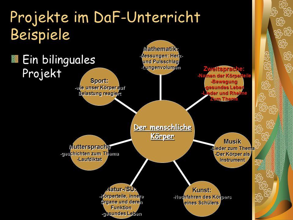 Projekte im DaF-Unterricht Beispiele