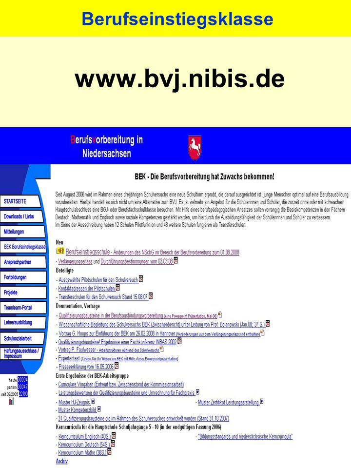 Berufs- vorbereitungsjahr (BVJ)