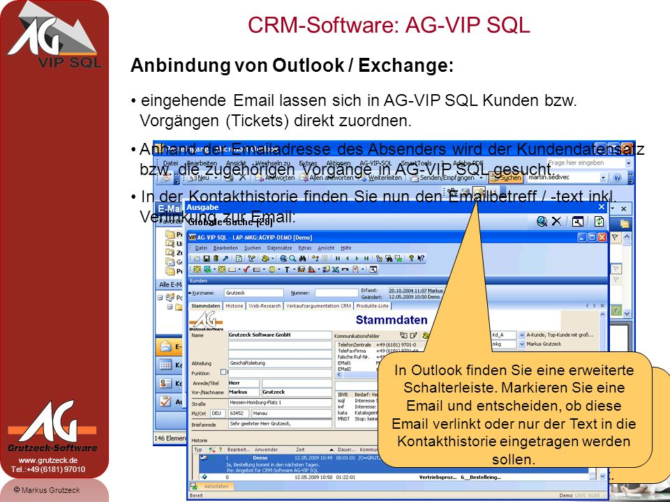 Anbindung von Outlook / Exchange: