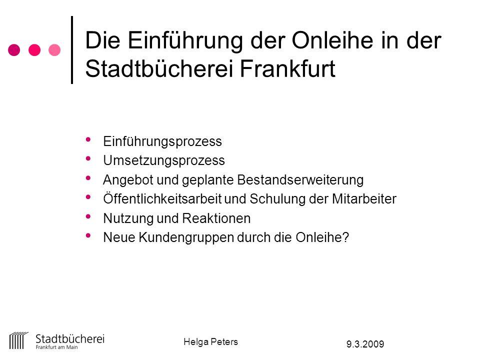Die Einführung der Onleihe in der Stadtbücherei Frankfurt