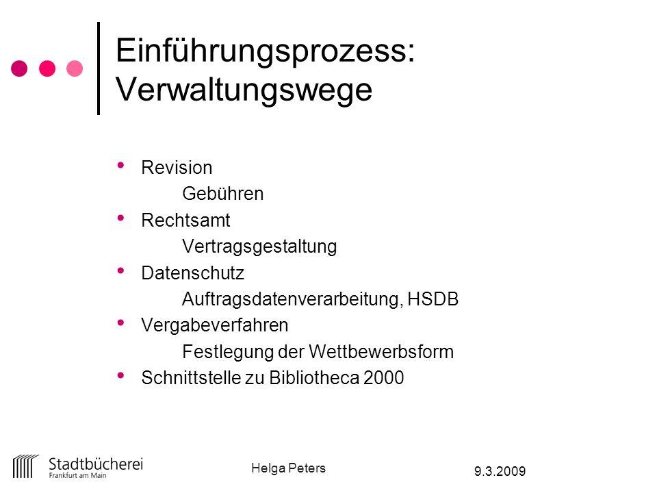 Einführungsprozess: Verwaltungswege