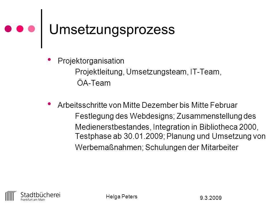 Umsetzungsprozess Projektorganisation