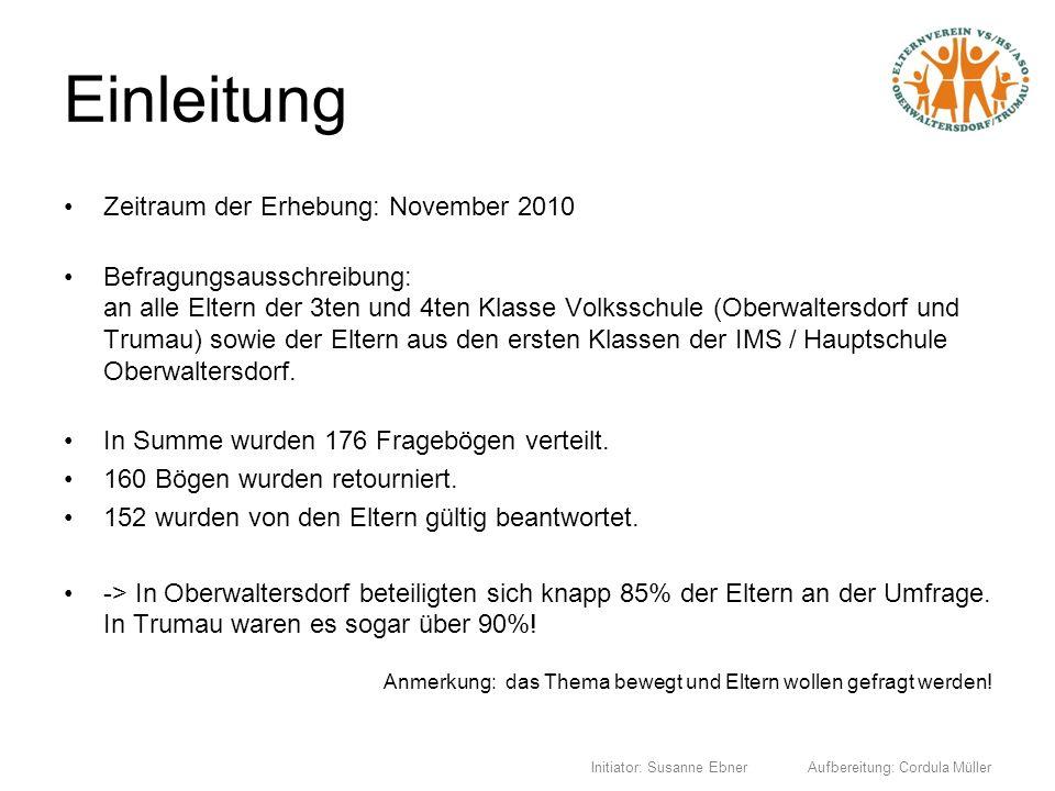 Einleitung Zeitraum der Erhebung: November 2010