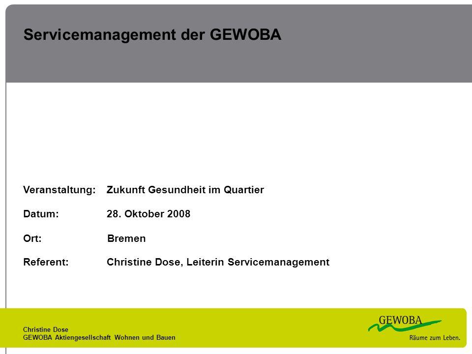 Servicemanagement der GEWOBA