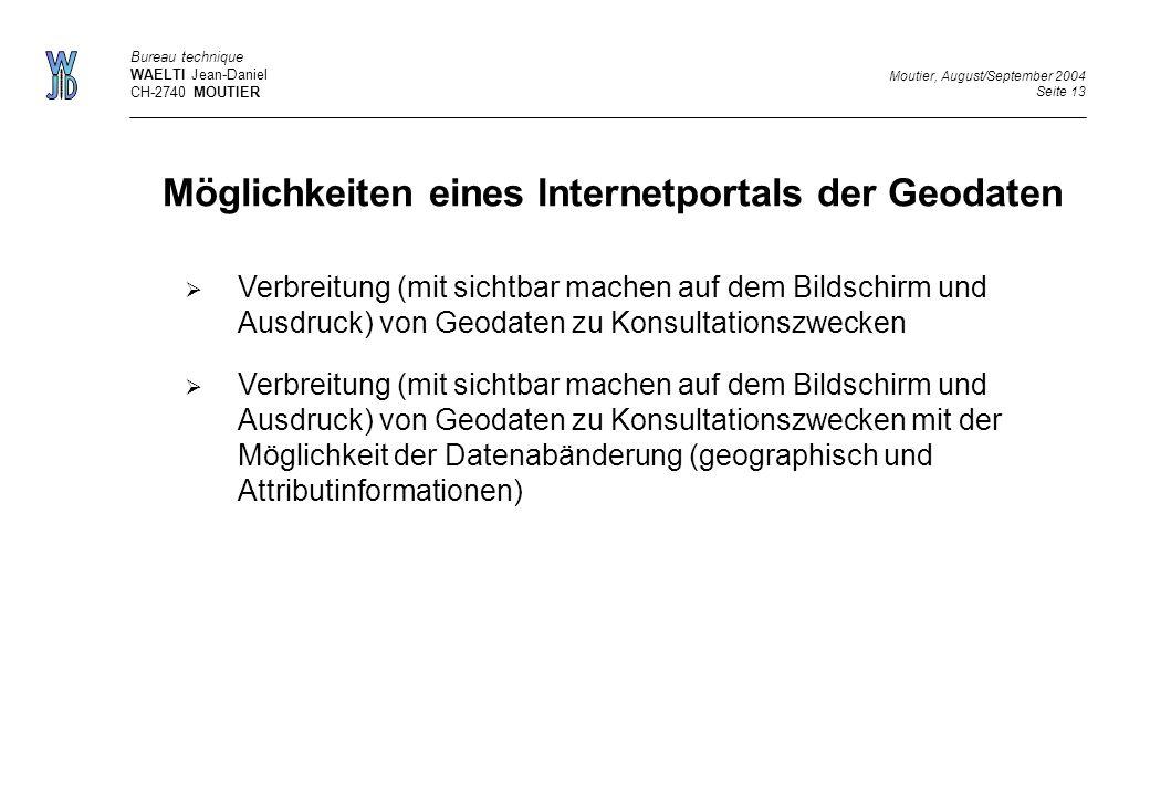 Möglichkeiten eines Internetportals der Geodaten