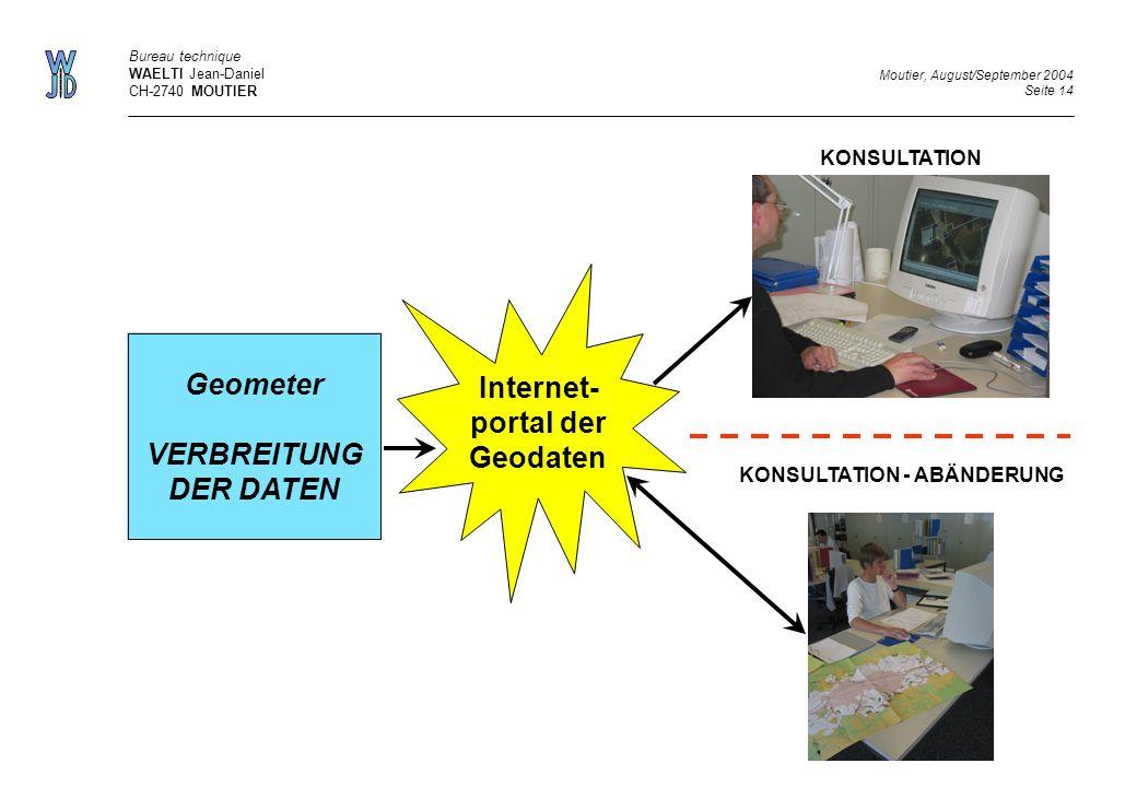 Internet-portal der Geodaten
