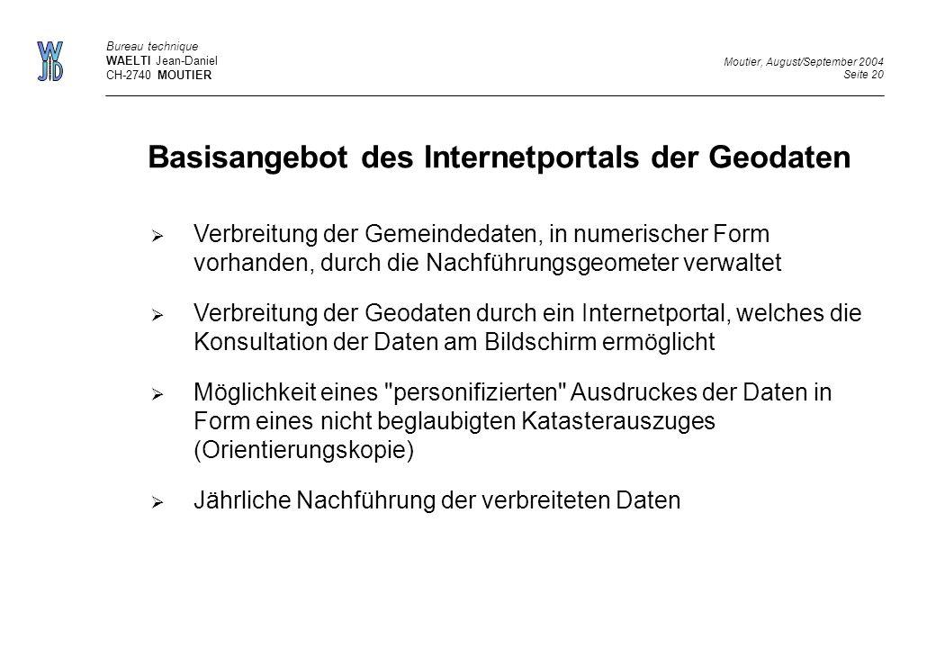 Basisangebot des Internetportals der Geodaten