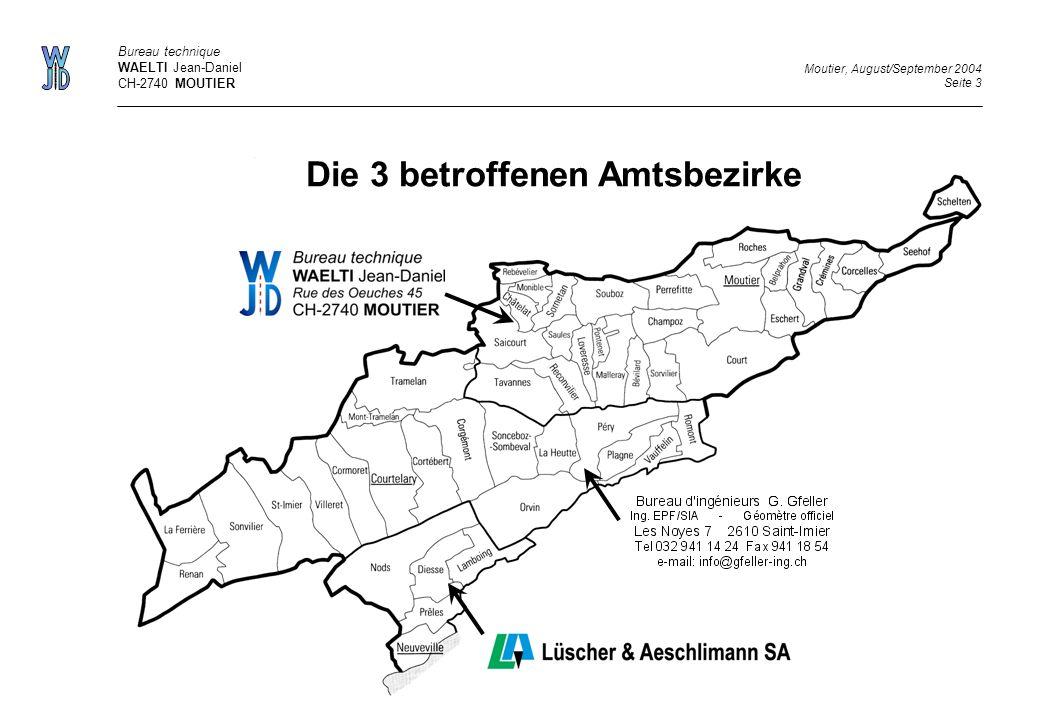 Die 3 betroffenen Amtsbezirke