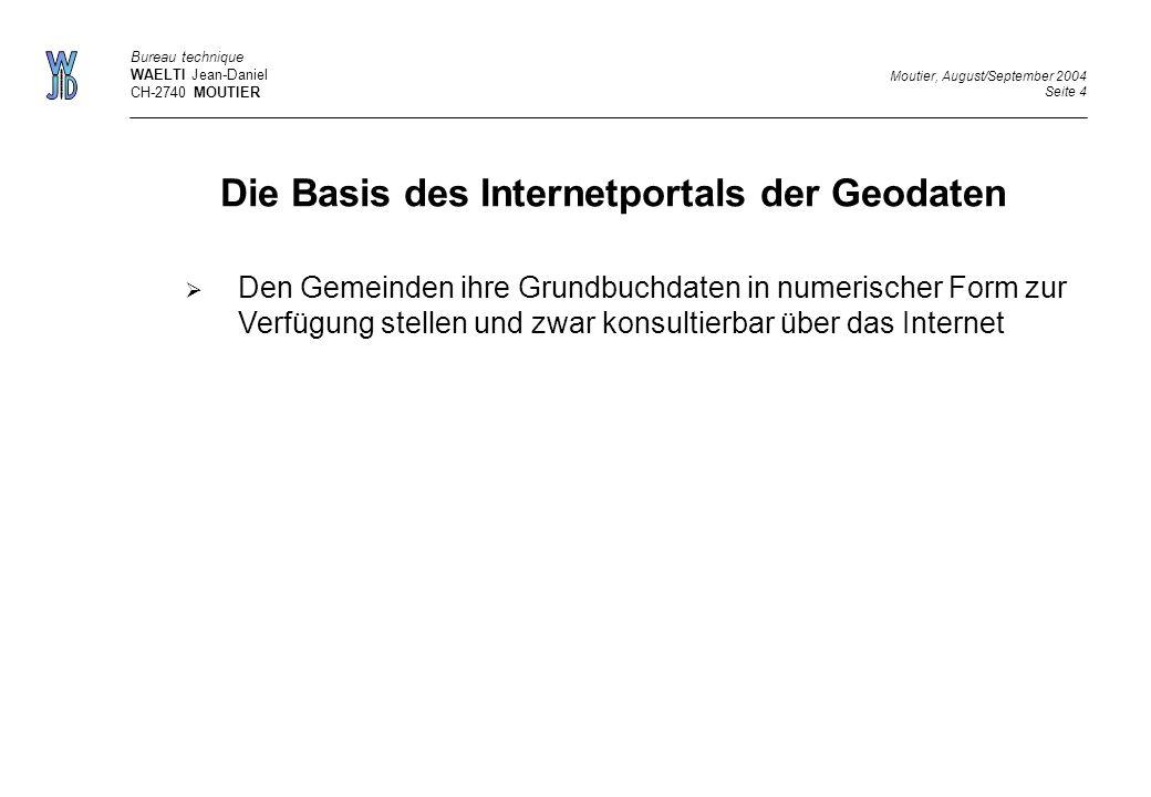 Die Basis des Internetportals der Geodaten