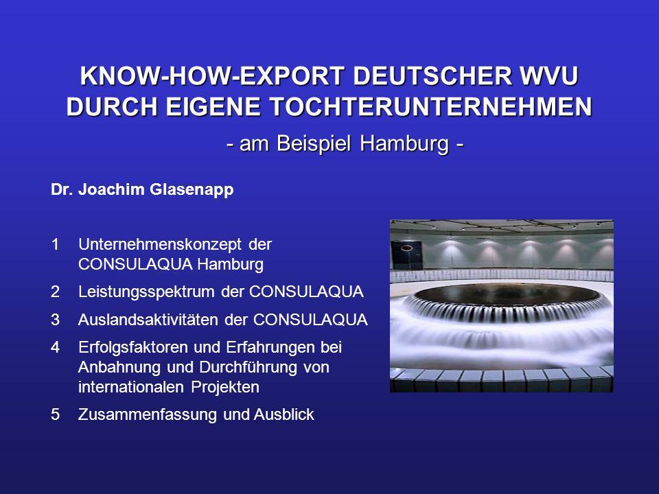 KNOW-HOW-EXPORT DEUTSCHER WVU DURCH EIGENE TOCHTERUNTERNEHMEN
