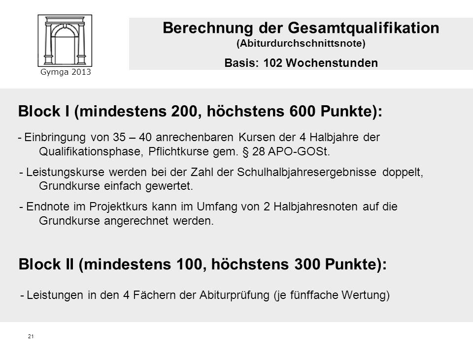 Berechnung der Gesamtqualifikation (Abiturdurchschnittsnote)