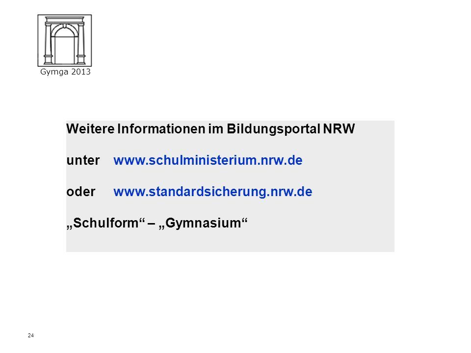 Weitere Informationen im Bildungsportal NRW unter. www