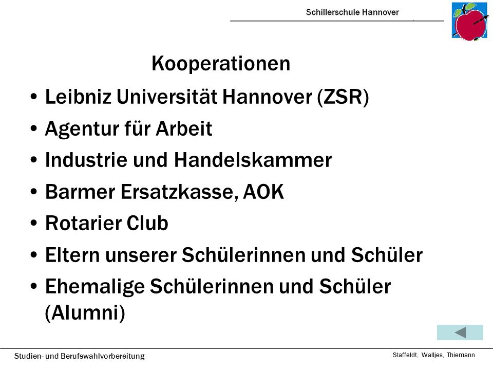 Leibniz Universität Hannover (ZSR) Agentur für Arbeit