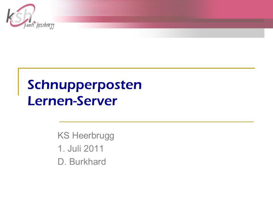 Schnupperposten Lernen-Server