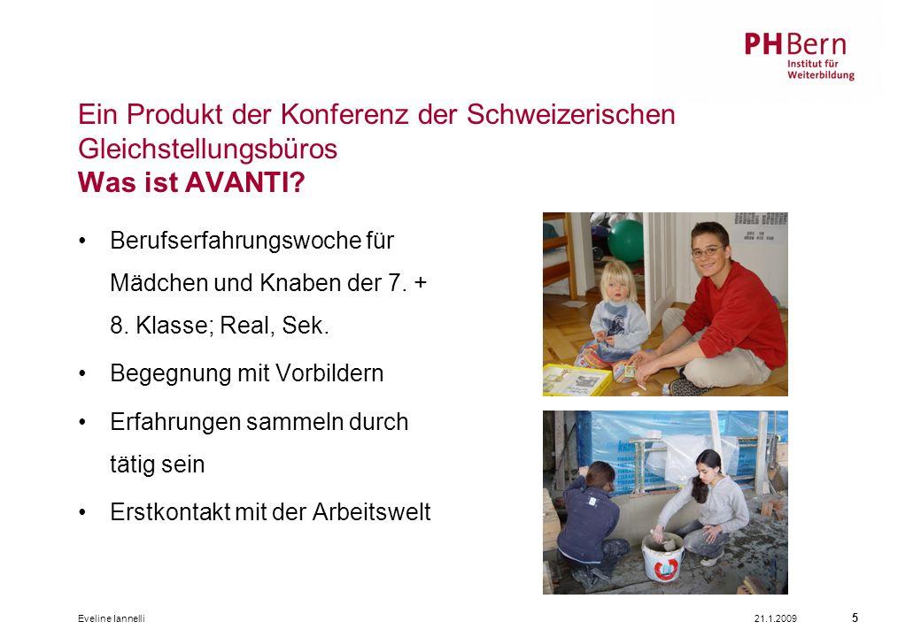 Ein Produkt der Konferenz der Schweizerischen Gleichstellungsbüros Was ist AVANTI