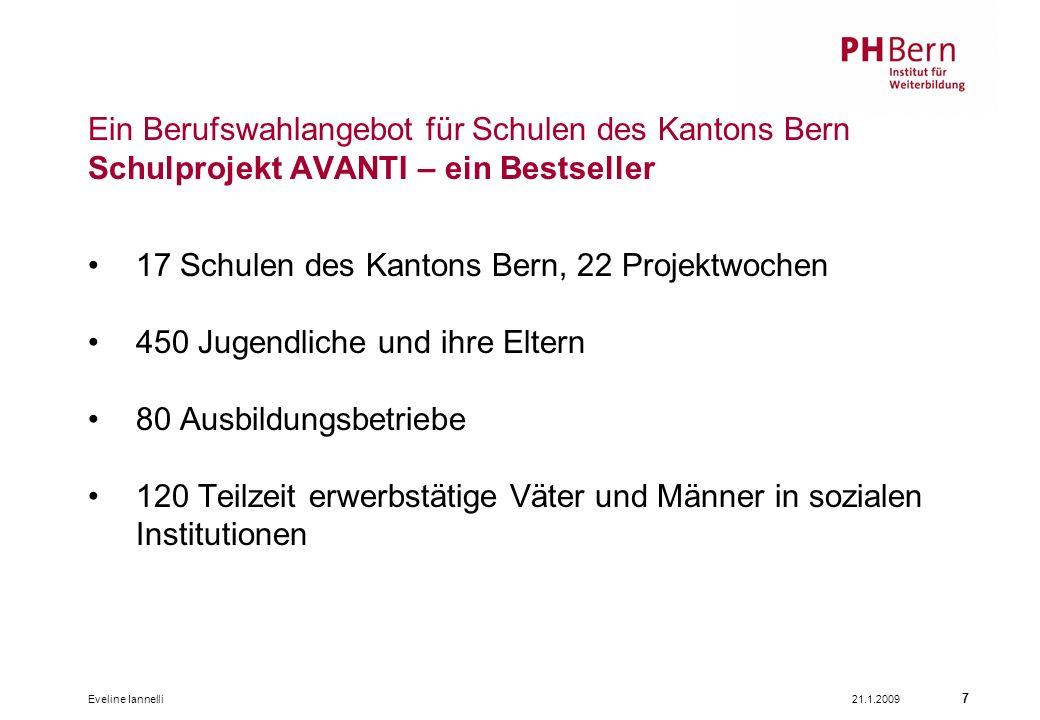 17 Schulen des Kantons Bern, 22 Projektwochen