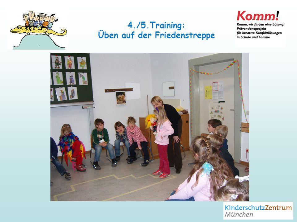 4./5.Training: Üben auf der Friedenstreppe