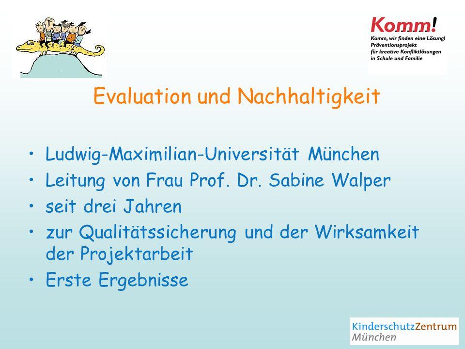 Evaluation und Nachhaltigkeit