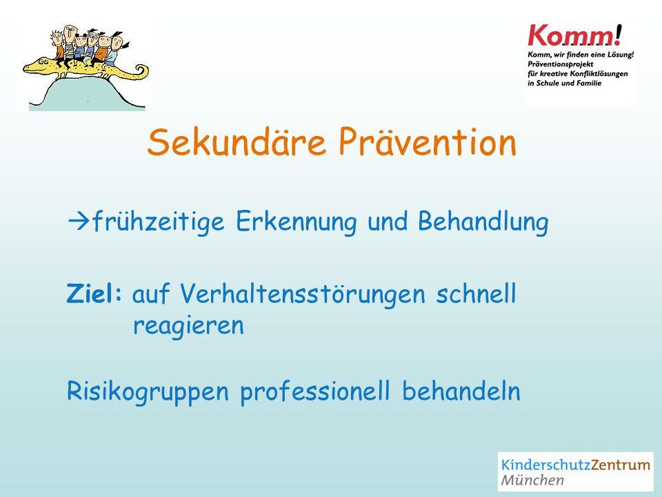 Sekundäre Prävention frühzeitige Erkennung und Behandlung
