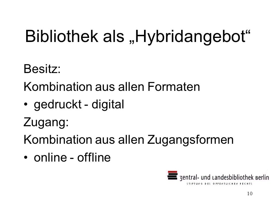 """Bibliothek als """"Hybridangebot"""