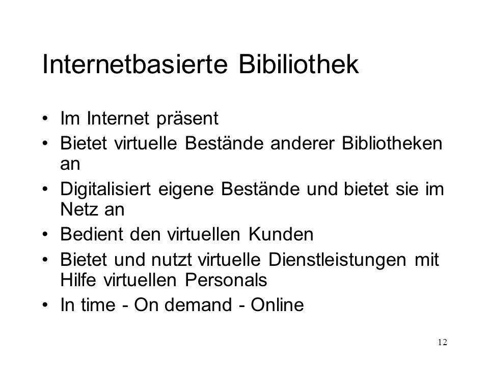 Internetbasierte Bibiliothek