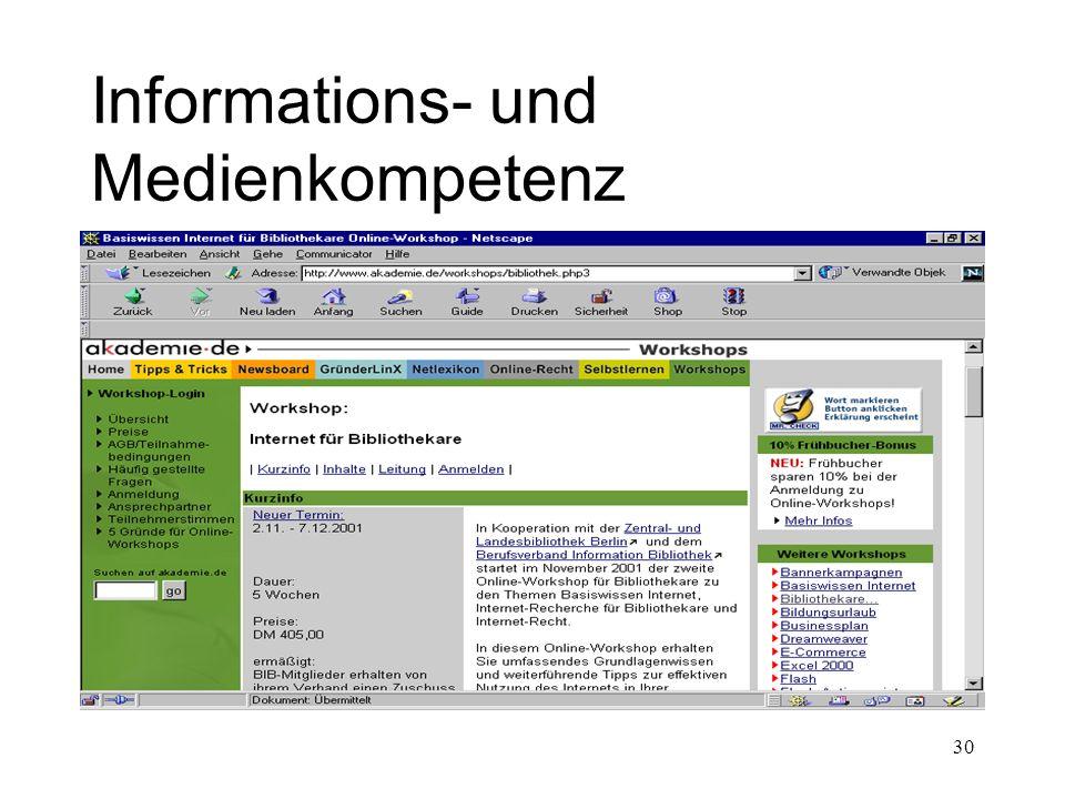 Informations- und Medienkompetenz