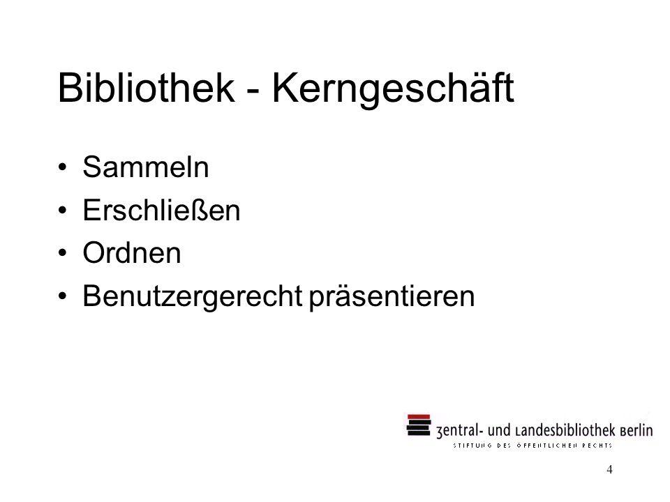 Bibliothek - Kerngeschäft