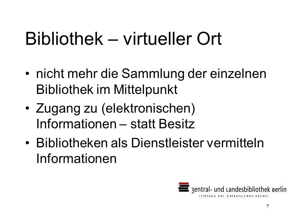Bibliothek – virtueller Ort