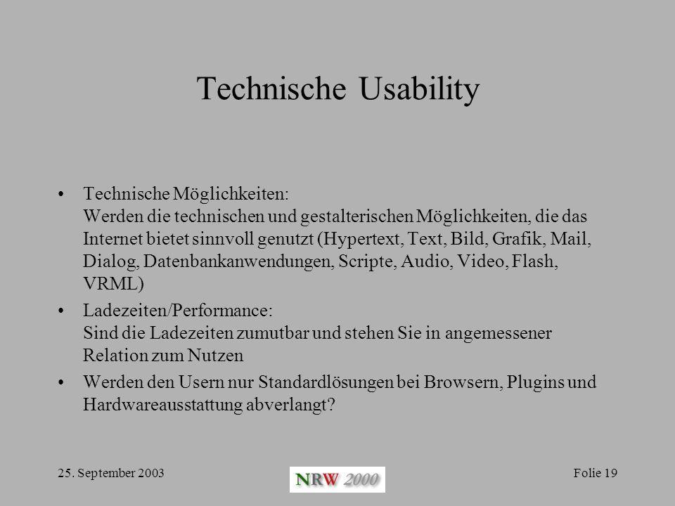 Technische Usability