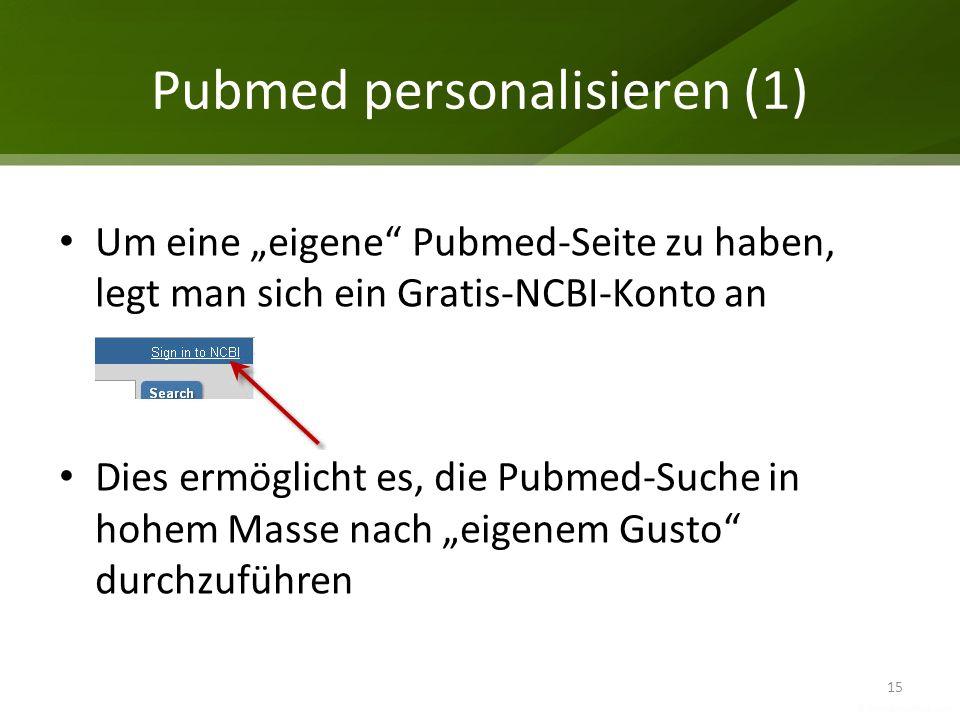 Pubmed personalisieren (1)