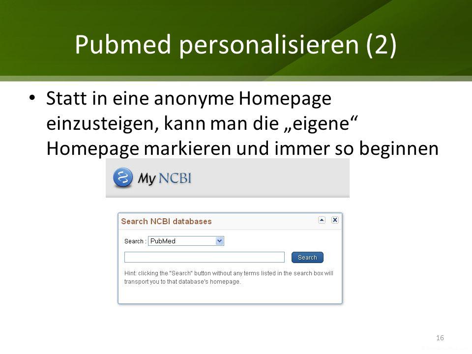 Pubmed personalisieren (2)