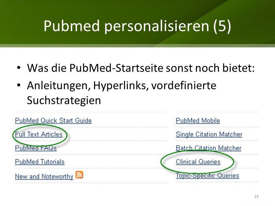 Pubmed personalisieren (5)