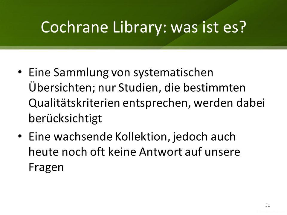Cochrane Library: was ist es
