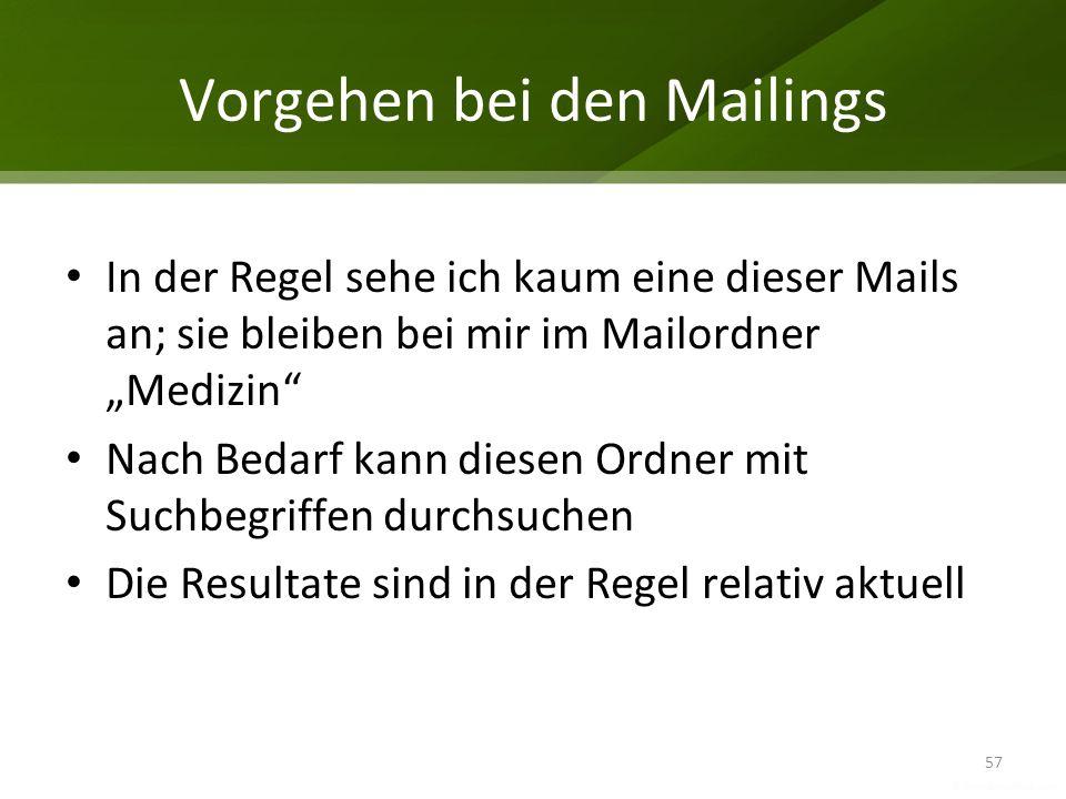Vorgehen bei den Mailings