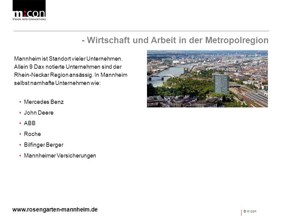 - Wirtschaft und Arbeit in der Metropolregion