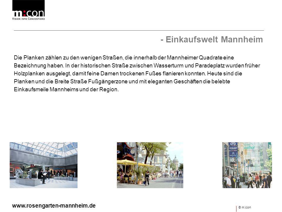 - Einkaufswelt Mannheim
