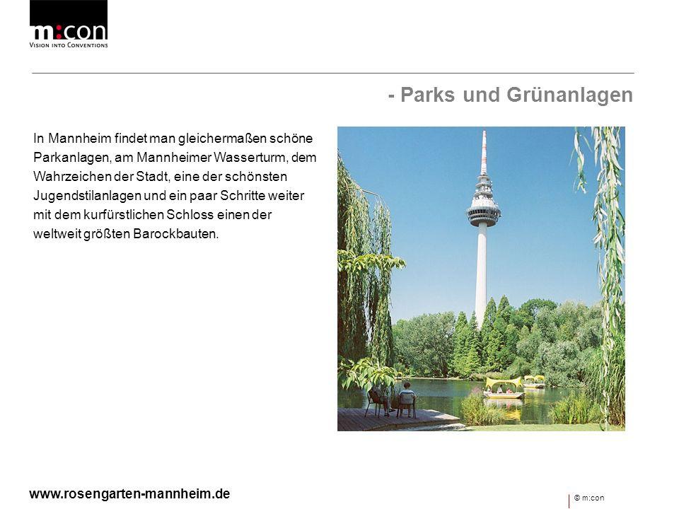 - Parks und Grünanlagen