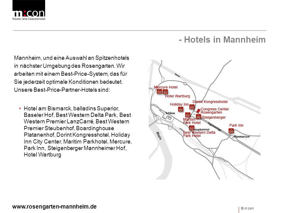 - Hotels in Mannheim