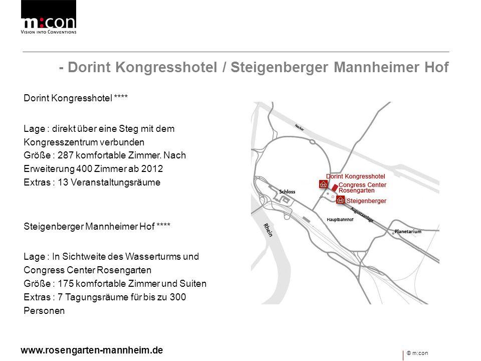 - Dorint Kongresshotel / Steigenberger Mannheimer Hof